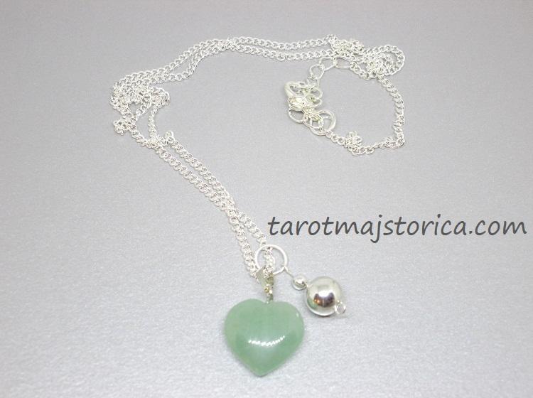 zeleni aventurin, aventurin, ogrlica, kristali ogrlica, poludrago kamenje ogrlica, kristali privjesak, aventurin ogrlica, aventurin nakit
